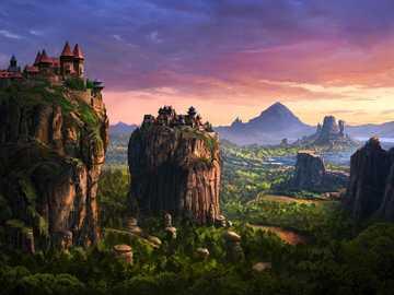 Dom na skale - Domy na skałach w górach