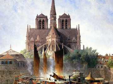 Notre Dame de Paris, 1893 - Edwin Deakin (1838-1923) - Notre Dame de Paris, 1893