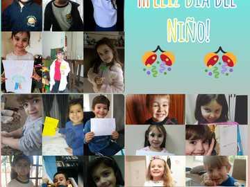 Weißes Zimmer - Glücklicher Kindertag Sala Blanca, ich liebe dich sehr