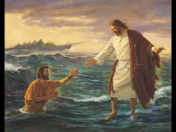 Miracle de Jésus - Jésus marche sur la mer