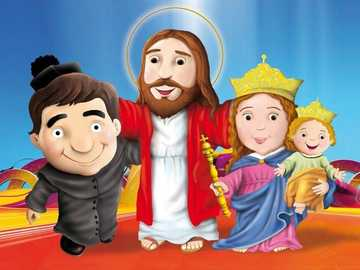 Don bosco and friends - Don bosco with maria and jesus
