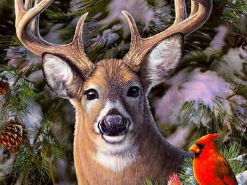 Fawn. - Jigsaw puzzle. Animals.