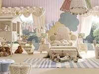 La chambre des enfants comme celle d'un conte de fées