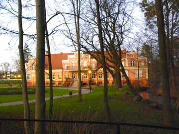 Wejherowo - Pałac w Wejherowie zimą