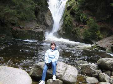 wodospad szklarka - wycieczka w Karkonosze