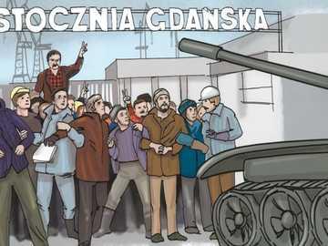 Solidarietà - Scioperi nel cantiere navale di Danzica