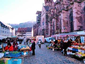 Freiburg im Breisgau Münstermarkt - Freiburg im Breisgau Münstermarkt