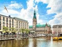 Hamburg z widokiem na ratusz