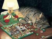 Коте и пъзел