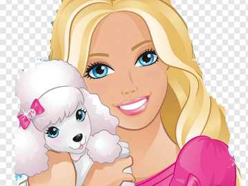 Barbie and puppy - barbie with a little puppy