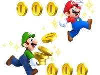 Mario Y Luigi - Es Mario y Luigi cogiendo monedas como en todos los Mario Bros