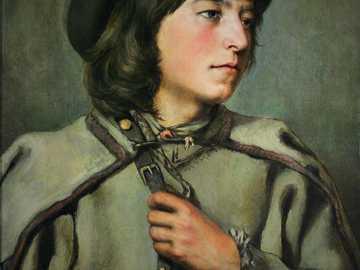 "Puzzle with a portrait - Aleksander Kotsis, ""Portrait of a Young Highlander"""
