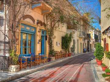 street in athens - street in athens ....