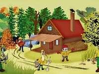 Zabraňte zvířatům s požárem - Hrajeme se zde s maskoty systémů prevence lesních požárů