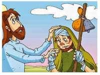 Gesù e il lebbroso riconoscente. jigsaw puzzle
