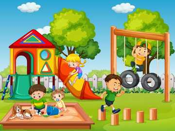 Children's games - Assembling the parts to solve the image.
