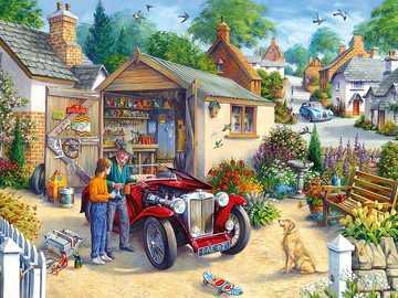 In town. - Landscape puzzle.
