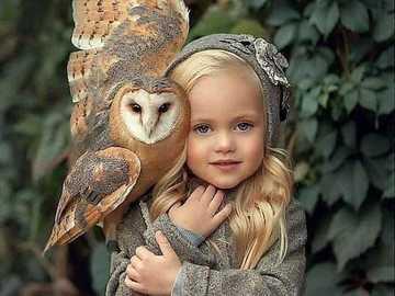 Owl.... - Jigsaw puzzle. Animals. Owl.