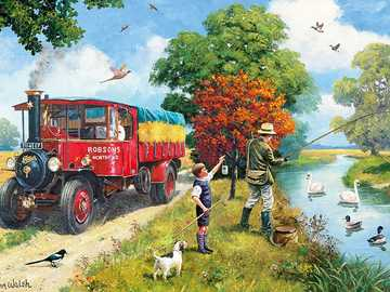 Summer in the countryside. - Landscape puzzle.