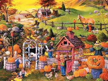 Autumn in the countryside. - Landscape puzzle.