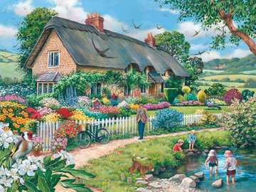 Spring in the countryside. - Landscape puzzle.