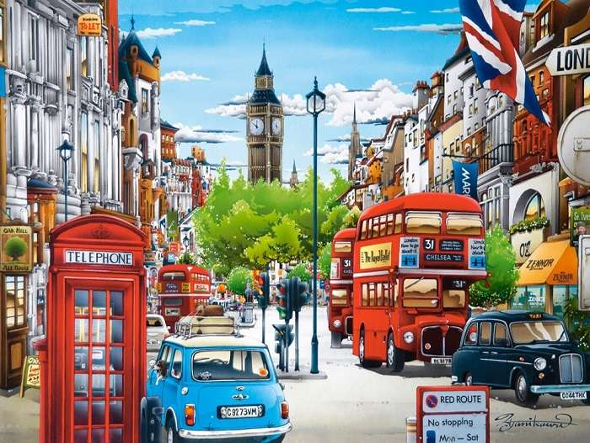 Pictat Londra - Artă. Pictat Londra (12×9)