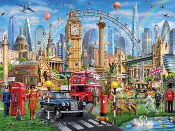 Buildings. - Jigsaw puzzle. Buildings. Puzzle.
