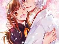 na primavera - tomoe e nanami sob sakura do beijo kamisama