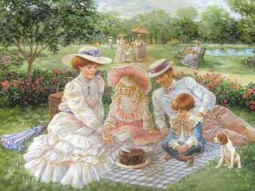 Family portrait. - Painting. Family portrait.