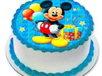 MICKEY MOUSE CAKE - Wafer sockerkaka Minnie Mickey Mouse Mouse