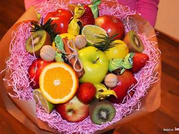 a bouquet made of fruit - m ..................................