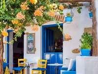 Тераса за кафе в Гърция