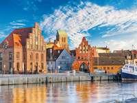 Wismar stad vid Östersjön