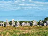 Carnac Bretagne ősi kő kultúrája