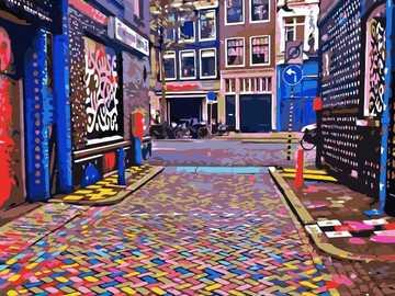 uliczka w amsterdamie - m..........................