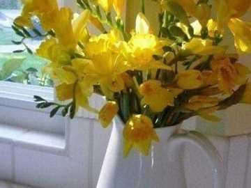 joli bouquet de fleurs jaunes - joli bouquet de fleurs jaunes