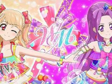 WM Flower (letni dzień) - 偶像 團體 WM 的 Apel specjalny。 表演 者 從 手臂 上 劃著 不同 的 顏色 向上 盤
