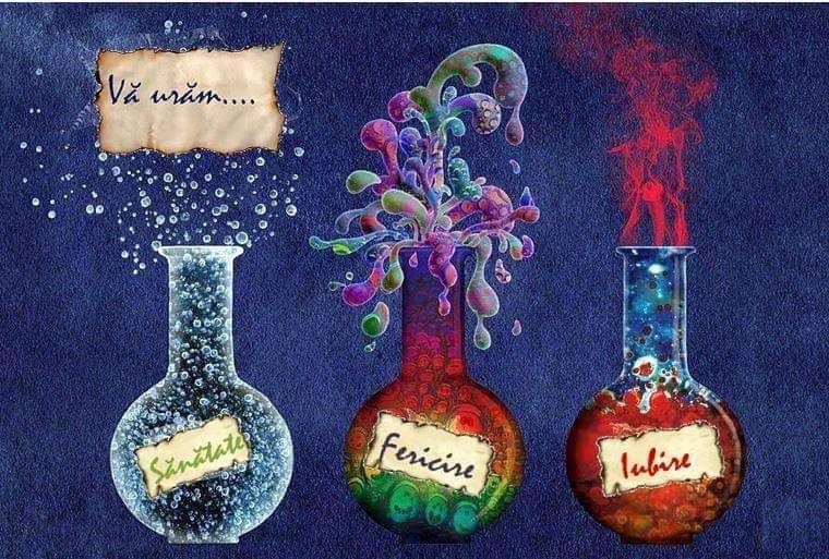 Wir wünschen Ihnen Gesundheit, Glück, Liebe - führt das chemische Rätsel durch (5×4)