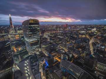 city skyline during night time - When things align, great photos are taken. This is my favourite photo of my city. 28 Fenchurch Avenu