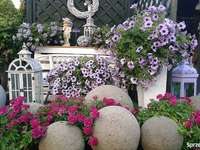 decorativo no jardim - m ............................