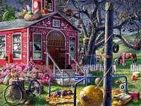 Цветна къща