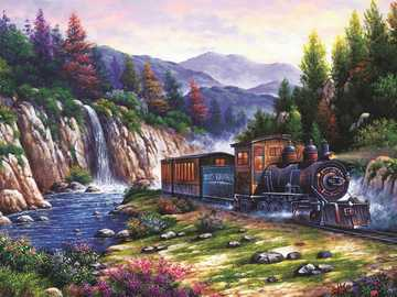 Train ride in the mountains - Train ride in the mountains