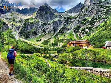 Holidays in the Tatras. - Landscape puzzle.
