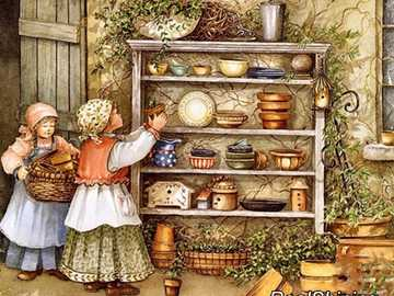 Painting. - = Puzzle: in the pantry. =