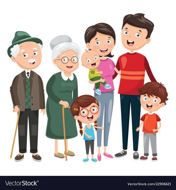 οικογένεια για νηπιαγωγείο παζλ