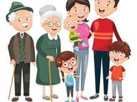familie voor de kleuterschool