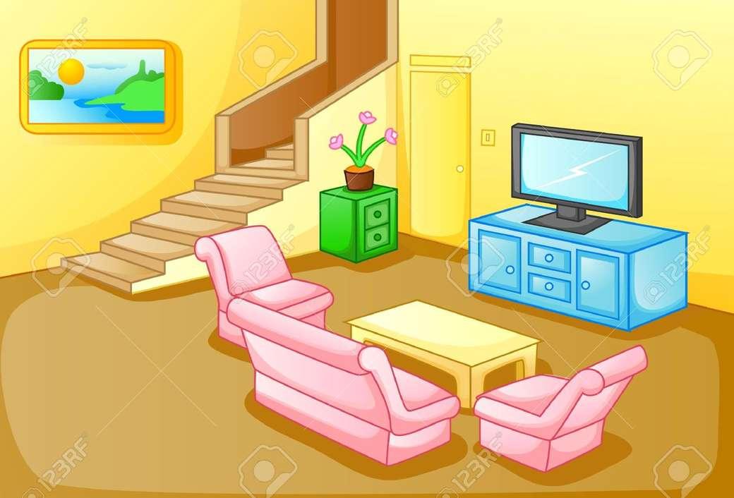 Pokój dzienny dla III klasy - Puzzle do salonu dla klasy 3d (5×4)