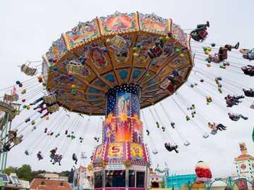 carousel ... an amusement park - m .............................