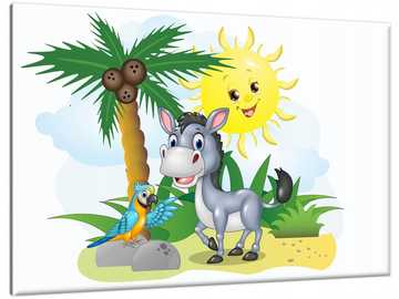 HAPPY PICTURE - Picture 60x40cm Cheerful donkey