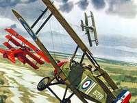 WWI-gevechten - WWI-gevechten in de lucht van Europa